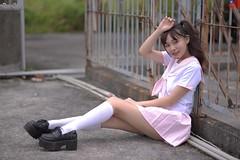 瑞希 (玩家) Tags: 2019 台灣 台北 劍潭空屋 人像 外拍 正妹 模特兒 瑞希 戶外 定焦 無後製 無修圖 taiwan taipei portrait glamour model girl female mizuki outdoor d610 85mm prime