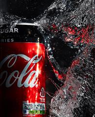 Coke (Bernie Condon) Tags: cola coke can drink softdrink water splash flash studio red tank cocacola