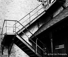 High Contrast in BW (Kool Cats Photography over 12 Million Views) Tags: streetphotography structure street stairs streetart highcontrast blackandwhite blackwhite bw monochrome outdoor alley architecture artistic art abstract angles textures textured ricohgrii