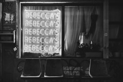 Rebecca's (matei_g) Tags: shadows contrast high city york new nyc bushwick street bw a7r bar moody