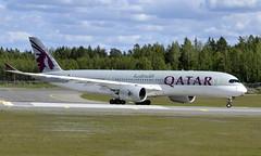 Qatar A7-ALL, OSL ENGM Gardermoen (Inger Bjørndal Foss) Tags: a7all qatar airbus a350 osl engm gardermoen
