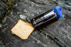 Brotzeit (Joachim S.) Tags: schottland brot essen fels glenaffric nalgene pause toast trinken kyle scotland unitedkingdom