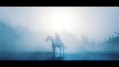 Cold af (Skinny LSD) Tags: red dead redemption 2 videogame lovuguys light cinematic cowboy western westworld wallpaper horse art arthur blue snow cold mountain photo ps4 paint filmphotography rockstar
