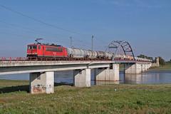 155 028 (René Große) Tags: eisenbahn train railways rail railroad zug güterzug brücke elbe lok lokomotive 155 br155 torgau sachsen mitteldeutschland deutschland germany