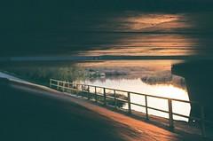 Under the Bridge (Jennaasucks) Tags: film nikon nikonfe filmisnotdead kodakfilm sunset
