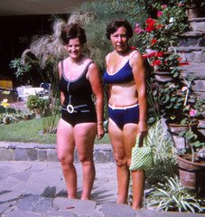 IMG_0007 Tenerife largest of Spain's Canary Islands Aug 1969 Jean Spafford RIP Black Swimming Costume and Lady in Blue Bikini (photographer695) Tags: dads old family photos tenerife largest spain's canary islands aug 1969 jean spafford rip black swimming costume lady blue bikini