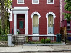 Door & Windows (J Wells S) Tags: door windows bricks building architecture stoop trees fence westend cincinnati ohio