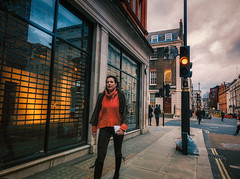 Str (Мaistora) Tags: street stride stranger candid woman female lady girl passerby shops shopping houses buildings architecture lights traffic skyline sky clouds london england britain uk mayfair bondstreet hydepark leica dlux typ109 lightroom luminar