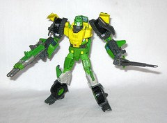 springer transformers idw thrilling 30 voyager class triple changer last stand of the wreckers hasbro 2013 m (tjparkside) Tags: springer transformer transformers generations idw thrilling 30 autobot autobots wrecker wreckers movie triple changer g1 generation 1 one sword rotor gun rifle blaster cannon projectile projectiles firing launching missile missiles shooting helicoper vehicle armored car truck hasbro 2014 2012 voyager class green yellow last stand 2013