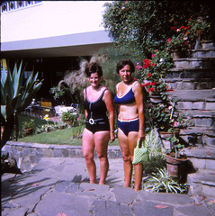 IMG_0004 Tenerife largest of Spain's Canary Islands Aug 1969 Jean Spafford RIP Black Swimming Costume and Lady in Blue Bikini (photographer695) Tags: dads old family photos tenerife largest spain's canary islands aug 1969 jean spafford rip black swimming costume lady blue bikini