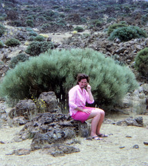 IMG_0003d Tenerife largest of Spain's Canary Islands Aug 1969 Jean Spafford RIP at Mount Teide Volcano (photographer695) Tags: dads old family photos tenerife largest spain's canary islands aug 1969 jean spafford rip mount teide volcano