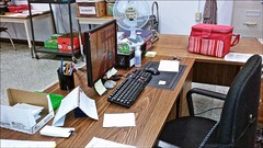 Our Daily Challenge: Desk (Sue90ca) Tags: ourdailychallenge odc canon 6d desk school work morning quiet