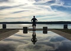 am Tollensesee (dirklie65) Tags: man reflection spiegelung mecklenburgvorpommern mvp lake see wasser neubrandenburg tollensesee