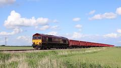 Following (Duck 1966) Tags: class66 ews dbs diesel locomotive stone train turves fenland freight