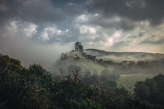 high born kings and empty thrones (stocks photography.) Tags: michaelmarsh photographer photography castle king thrones landscape mist atmospheric cinematic misty corfe