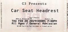 Car Seat Headrest w/ Naked Giants - Emo's, Austin, TX, February 28, 2019 (robotcosmonaut) Tags: carseatheadrest nakedgiants austin emos ticket texas
