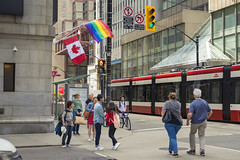 Yonge and King (A Great Capture) Tags: agreatcapture agc wwwagreatcapturecom adjm ash2276 ashleylduffus ald mobilejay jamesmitchell toronto on ontario canada canadian photographer northamerica torontoexplore spring springtime printemps 2019 yonge street king urban pride flag rainbow pridemonth streetcar downtown streetphotography streetscape photography streetphoto calle