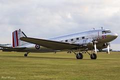 "Dakota Norway ""Little Egypt"" C-53D (DC-3) LN-WND (42-68823) (birrlad) Tags: duxford iwm london uk apron ramp parked prop piston daksovernormandy airshow lnwnd douglas dc3a 4268823 dakota norway c53d littleegypt"