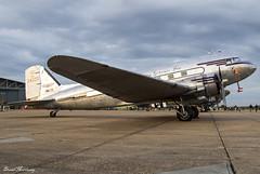 Miss Montana (Johnson Flying Service INC.) C-47A (DC-3) N24320 (birrlad) Tags: duxford iwm london uk apron ramp parked prop piston daksovernormandy airshow miss montana johnson flying service inc c47a dc3 n24320 dak skytrain