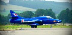 Photo of Hawker Hunter (RAF Blue Diamonds) - Edited