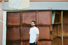 (youngkurama) Tags: portra portra400film film 35mm goldenhour portraits portrait daytime canon canonrebel life art artdistrict eaugallie melbourne florida eg photoshoot photography focus 2019 casey onlyny keen keenperspective brick stairs nike dickies street etiquette