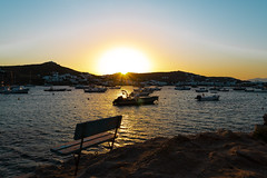 Sunset at Ornos Beach, Mykonos (davidheath01) Tags: wood travel blue red sea sky people sun holiday seascape color colour reflection travelling abandoned water colors beautiful beauty weather sex metal digital landscape boats outside island greek photography boat photo aperture travels nikon kiss holidays paint paradise colours photographer escape dof open picture engine tie rope knot depthoffield greece shutter nikkor amateur lanscape mykonos beutiful depthoffeild landscapephotography photoadd nikonflickraward nikond850 sunset love yourbestoftoday bench ornos cactushotel ornosbeach