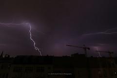 165/365 - Let's start the light show! (Sinuhé Bravo Photography) Tags: canon eos7dmarkii thunderstorm nightshot longexposure lightning silhouette building cranes clouds sky dramaticsky