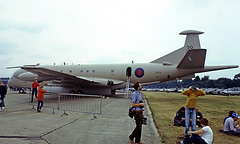 XV239   Hawker-Siddeley Nimrod MR.2P [8014] (Royal Air Force) RAF Greenham Common~G 23/07/1983 (raybarber2) Tags: 39 8014 cn8014 cancelled egvi filed flickr jettransport planebase raybarber slide ukmilitary writtenoff xv239