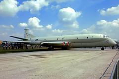 XV249   Hawker-Siddeley Nimrod MR.1 [8024] (Royal Air Force) RAF Finningley~G 30/07/1977 (raybarber2) Tags: 49 8024 cn8024 egxi filed flickr jettransport planebase raybarber slide ukmilitary xv249