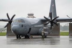 "An Airman checks a C-130J Super Hercules prior to takeoff. (#PACOM) Tags: japan tokyo usaf lockheedmartin c130j yokotaab pacaf uspacom superhercules 374thaircraftmaintenancesquadron usindopacificcommand indopacom blackletterflight air base ""usindopacomyokota"