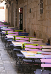 Colourful cafe (dramadiva1) Tags: dubrovnikcafechairstables