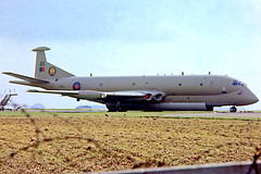 XV246   Hawker-Siddeley Nimrod MR.2 [8021] (Royal Air Force) RAF St Mawgan~G 27/06/1981 (raybarber2) Tags: 46 8021 airliner airportdata brokenup cn8021 cancelled egdg filed flickr planebase raybarber slide ukmilitary xv246