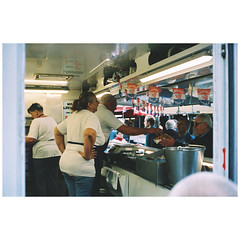 Fish to fry (SJOOT.ME) Tags: filmphotography streetphotography analogue analog ishootfilm filmisalive staybrokeshootfilm people stolenmoments streetlife citylife yashica rangefinder kodak kodakfilm portra400 utrecht sjootme