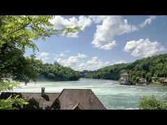 ViaRhenana 27 (Beat09) Tags: schweiz switzerland suisse rhein rhine rheinufer rheinfall schaffhausen neuhausen fluss river wasserfall vividhdr viarhenana wolken clouds waterfall rhinefalls