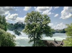 ViaRhenana 29 (Beat09) Tags: schweiz switzerland suisse rhein rhine rheinufer rheinfall schaffhausen neuhausen fluss river wasserfall vividhdr viarhenana wolken clouds waterfall rhinefalls