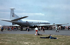 XV236   Hawker-Siddeley Nimrod MR.1 [8011] (Royal Air Force) (Place Unknown)~G @ 01/07/1980 (raybarber2) Tags: 8011 brokenup cn8011 cancelled filed flickr jettransport johnbabbagecollection planebase slide ukmilitary xv236