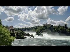 ViaRhenana 30 (Beat09) Tags: schweiz switzerland suisse rhein clouds river waterfall wasserfall wolken schaffhausen fluss rhine rheinufer rheinfall neuhausen rhinefalls viarhenana vividhdr