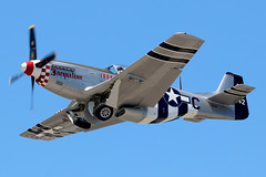 "N51HR / 44-63542 | North American P-51D Mustang | F4U Inc ""Jacqueline"" (cv880m) Tags: farmingdale republic frg kfrg aviation waibird aircraft airplane airport ww2 worldwartwo wwii propliner military n51hr 4463542n northamerican aeroclassics p51 p51d mustang jacqueline fighter invasionstripes usaf airforce"