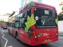 Last ride on one of my favourite routes in the central areas. Very sad to see it go.   Tower Transit London Vanhool A330 Hydrogen working the RV1 to Tower Gateway. (alexpeak24) Tags: goodbye bh63101 lj67htf a330 vanhool coventgarden towergateway fuelcell hydrogenbus hydrogen rv1 london towertransit