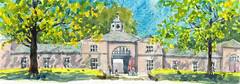 Stables in the Heaton Park (MonikaWu) Tags: monikawolk manchesterurbansketchers heatonpar watercolor urbansketch