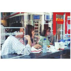 FEBO (SJOOT.ME) Tags: streetphotography streetlife citylife street window people stolenmoments fastfood febo snackbar fujifilm xpro1 7artisans 35mm ams amsterdam sjootme
