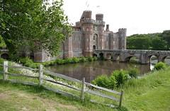 English castle (Westhamwolf) Tags: english england castle herstmonceux moat brick built fence bridge east sussex