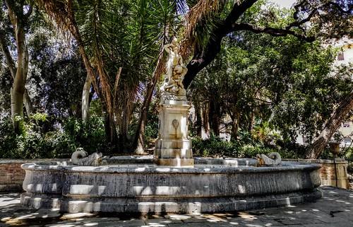 Fuente del Tritón, obra de Giacomo Antonio Ponzanelli - Jardines de La Glorieta