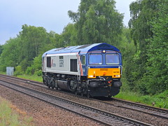 "66780 ""The Cemex Express"" (mike_j's photos) Tags: swinton class66 gbrf 66780 cemexexpress"