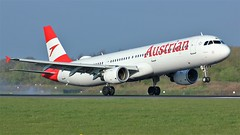 OE-LBE (AnDyMHoLdEn) Tags: austrian a321 lufthansagroup staralliance egcc airport manchester manchesterairport 05r