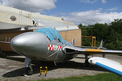 Catching up with an old friend (ƒliçkrwåy) Tags: xe950 dh havilland vampire raf royal airforce toulouse aviation aircraft military museum preserved