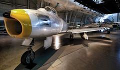 F-86 Sabre at Udvar (2Colnagos) Tags: f86 sabre 50caliber aircraft fighter jet koreanwar air space museum yellow intake gun