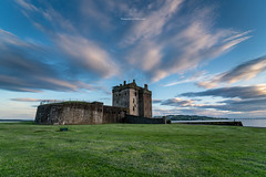 Broughty Ferry Castle Sunset (Callum C. Laird) Tags: sunset clouds dundee broughty ferry castle scotland landscape wide angle sony alpha countryside sea sky moody ruin grass green blue contrast scottish tayside fife