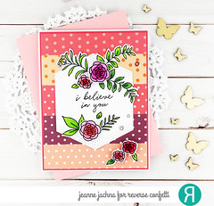 Believe in You (akeptlife) Tags: reverseconfetti floralgem sentimentalgems card cardmaking stamping stamp papercrafting craftdie colorblock stitchedhextag tag darlingdots