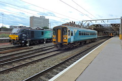Crewe (mike_j's photos) Tags: crewe class88 class153 drs directrailservices arriva 88008 ariadne 153320